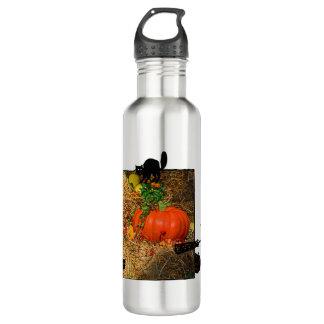 秋のカボチャパッチの秋 ウォーターボトル