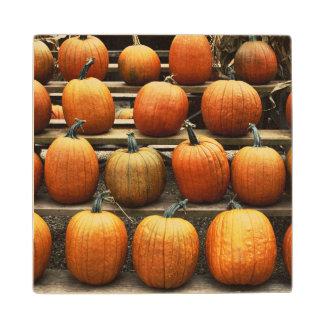 秋のカボチャ ウッドコースター