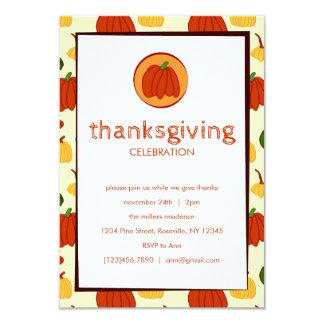秋のカボチャ: カスタマイズ感謝祭の招待状 カード
