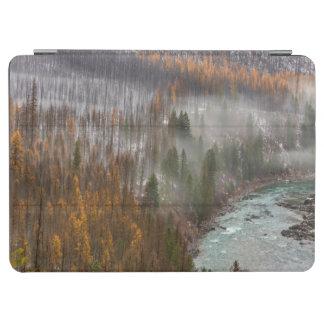 秋のカラマツ木の霧ロール iPad AIR カバー