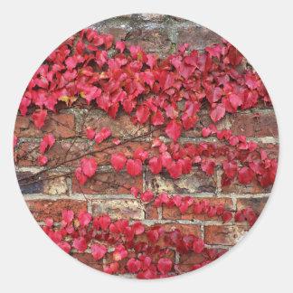 秋のクリーパー ラウンドシール