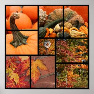 秋のコラージュ ポスター