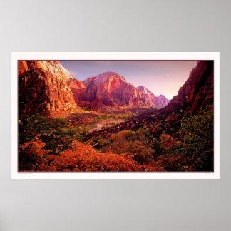 秋のザイオン国立公園 ポスター