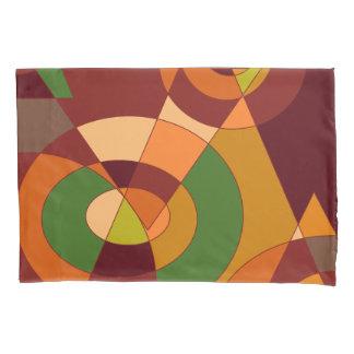秋のテーマの抽象デザイン 枕カバー