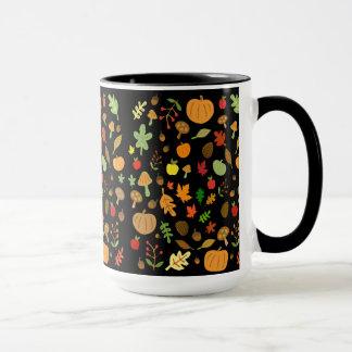 秋のデザイン マグカップ
