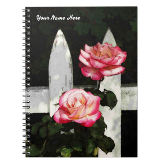 秋のノートの2匹のバラ ノートブック