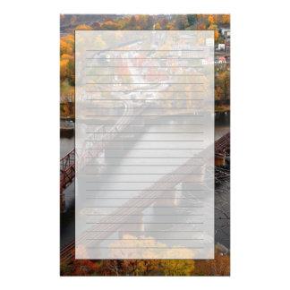 秋のハープ奏者フェリー 便箋