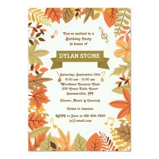 秋のパーティの招待状 カード