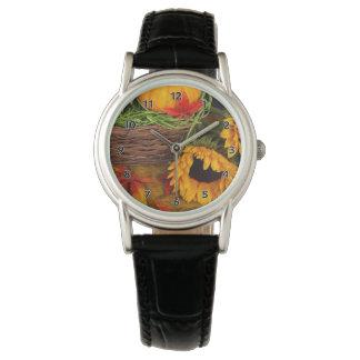 秋のヒマワリ 腕時計
