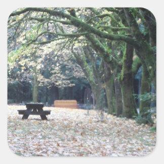 秋のピクニック スクエアシール
