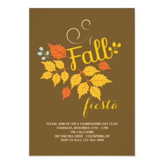 秋のフェスタの招待状 カード