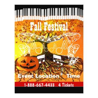 秋のフェスティバルのハロウィンのイベントか秋のイベントのフライヤ チラシ
