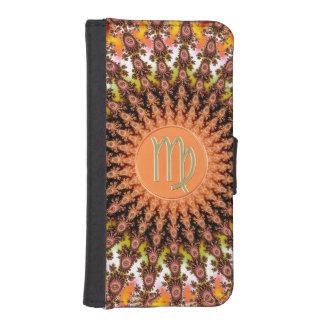 秋のフラクタルの(占星術の)十二宮図の印の《星座》乙女座を暖めて下さい iPhoneSE/5/5sウォレットケース