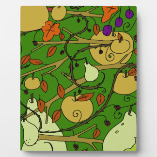 秋のフルーツ フォトプラーク
