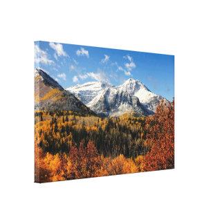 秋のユタ山の山Timpanogos キャンバスプリント