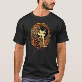 秋のワイシャツのフクロウの妖精のジャスミンのベケットのOwlyn Tシャツ