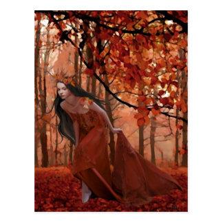 秋の会う約束の郵便はがき ポストカード