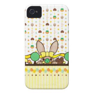 秋の兎と栗鼠(Squirrel and rabbit in autumn) Case-Mate iPhone 4 ケース