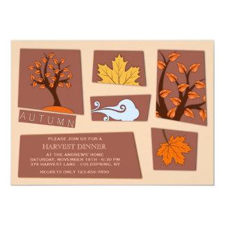 秋の切り出しの招待状 カード