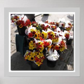 秋の切り花- Brockvilleの農家の市場 ポスター