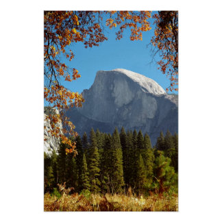 秋の半分のドーム-ヨセミテ国立公園 ポスター