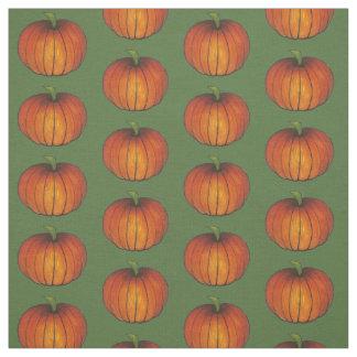 秋の収穫のオレンジカボチャカボチャ秋の生地 ファブリック
