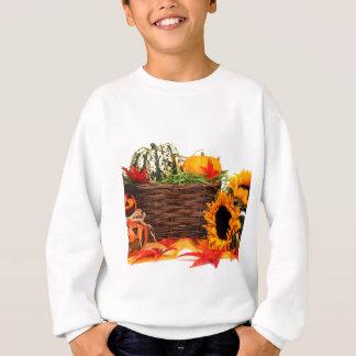 秋の収穫のハロウィンのカボチャ秋のヒマワリ スウェットシャツ