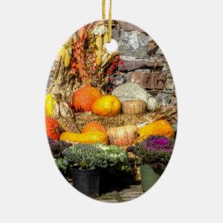 秋の収穫のフルーツ セラミックオーナメント