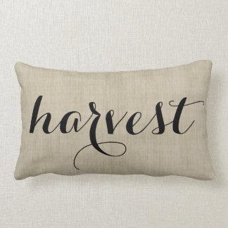 秋の収穫の素朴なバーラップの一見の枕 ランバークッション