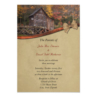 秋の国の結婚式招待状 12.7 X 17.8 インビテーションカード