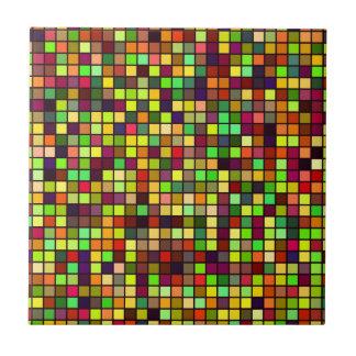 秋の多彩の正方形パターンの陰 タイル