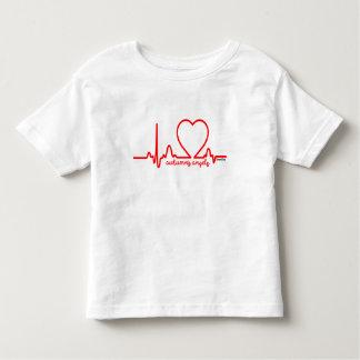 秋の天使サポート心臓病の心拍4t トドラーTシャツ