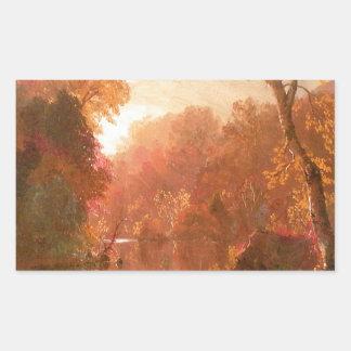 秋の天候 長方形シール