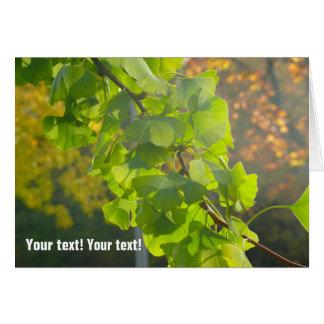 秋の太陽(p)のGingkoの葉 カード