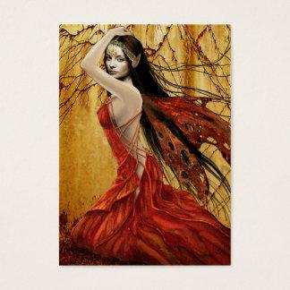 秋の妖精のギフトのラベル 名刺