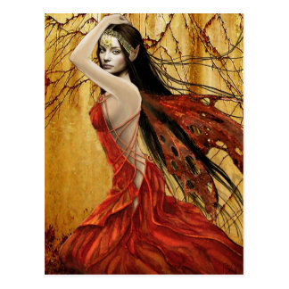 秋の妖精の郵便はがき ポストカード
