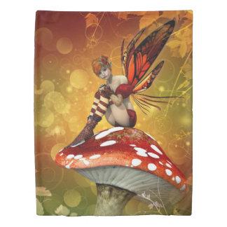 秋の妖精の(側面1)対の羽毛布団カバー 掛け布団カバー