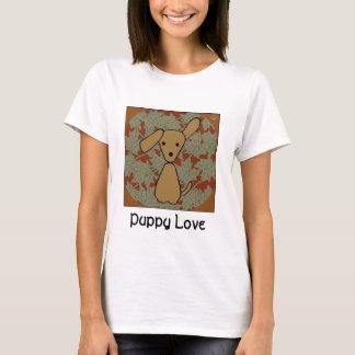 秋の子犬の女性のTシャツ Tシャツ