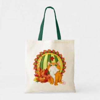 秋の子猫 トートバッグ