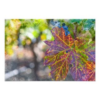 秋の季節のデマ フォトプリント