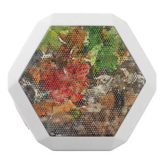 秋の季節のデマ ホワイトBluetoothスピーカー