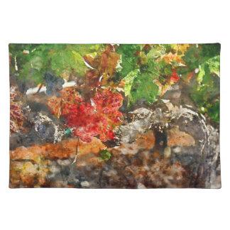秋の季節のデマ ランチョンマット