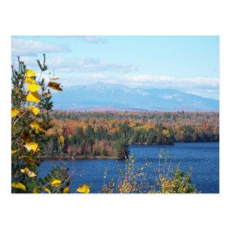 秋の山Katahdin 葉書き