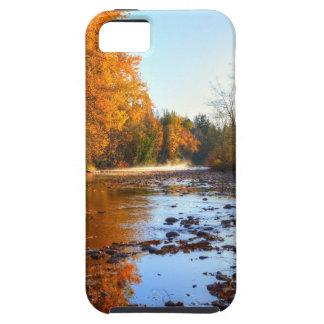 秋の川場面荒野の写真 iPhone SE/5/5s ケース