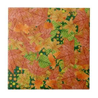 秋の床 タイル