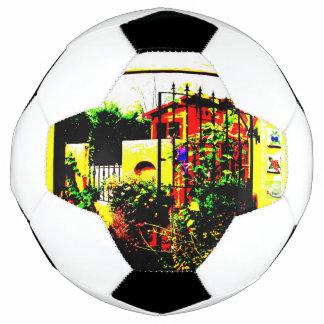 秋の庭のサッカーボール サッカーボール