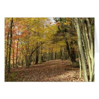 秋の恵みの収穫の挨拶状 グリーティングカード