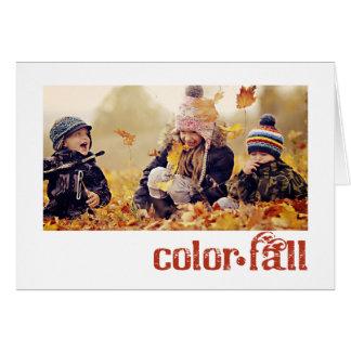 秋の感謝祭の写真の挨拶状 カード