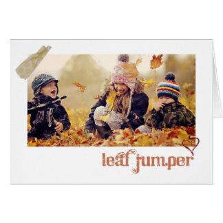 秋の感謝祭の写真の挨拶状 グリーティングカード