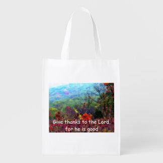 秋の感謝祭の買い物袋 エコバッグ
